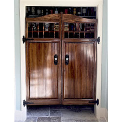 Pantry Craftsman Western Saloon Doors Installed