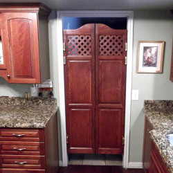 Full Length Lattice Cafe Doors- Installed