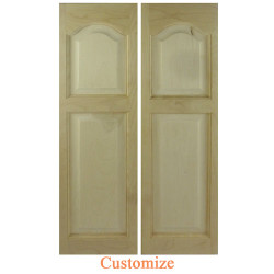 Cathedral Arch Solid Wood Saloon Doors | Swinging Cafe Doors