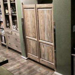 Swinging Kitchen Doors Installed