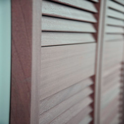 Sapele Louver Saloon Doors Side View