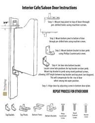"Scratch and Dent!  Craftsman Saloon Doors | Cafe Doors Fits Any 36"" or 3' Door Opening"