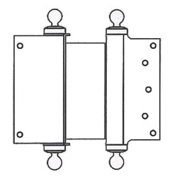Bommer Classic Tip Clamp Flange Double Acting Spring Hinge