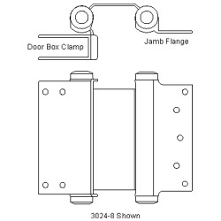 "6"" Bommer Clamp Flange Double Acting Spring Hinge"