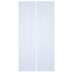 Modern Chevron Slat Half Doors- Swinging Doors