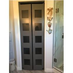Modern Swinging Closet Swinging Doors