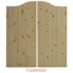 Rustic Santa Fe Western Saloon Doors | Swinging Cafe Doors- Pine