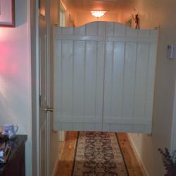 Rustic Santa Fe Swinging Cafe Doors Installed
