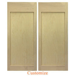 Modern Flat Panel Saloon Doors | Swinging Cafe Doors