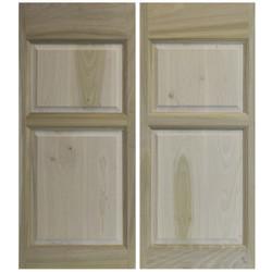 Colonial Poplar Western Saloon Doors (2 Panels- Tall Bottom Panel)
