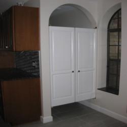 Water Closet Swinging Doors- Installed