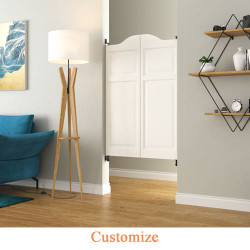 Arch Top Raised Panel Saloon | Cafe Doors- Pure White