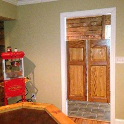 Commercial Colonial Saloon Doors Installed