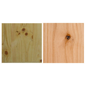 Which Wood is Better: Rustic Alder or Eastern White Pine?