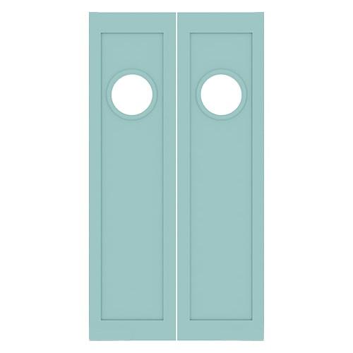 Maritime Double Porthole Nautical Swinging Doors | Half Doors