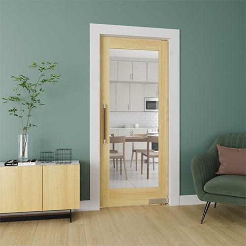 French Glass Single Swinging Interior Door | Single Door (Clear Glass)