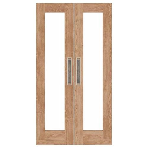 Modern Double Swinging French Doors | Glass Half  Doors