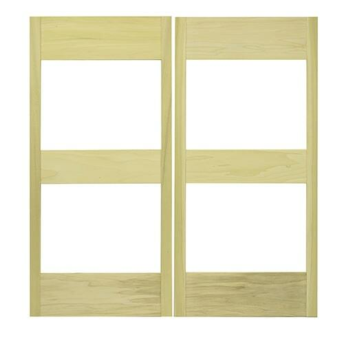 Glass Panel Cafe Doors   Saloon Doors