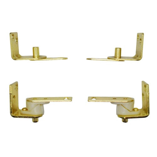Saloon | Cafe Door Brass Gravity Hinges- All Metal Top Brackets