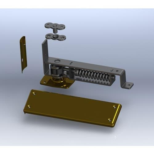Bommer 7821 Horizontal Adjustable Spring Pivot | Cafe Doors Hinge