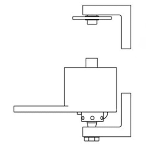 Bommer 7122 Mortise Adjustable Spring Pivot Hinge- Double Action Hinge