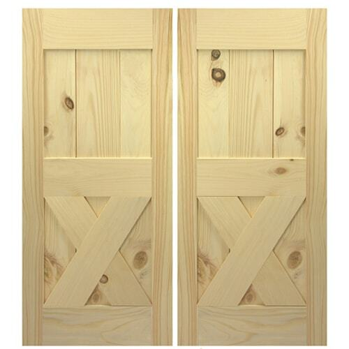 Framed X  Single Double Interior Barn Style Doors