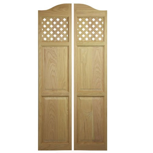 Custom Full Length Lattice Cafe Doors | Saloon Doors