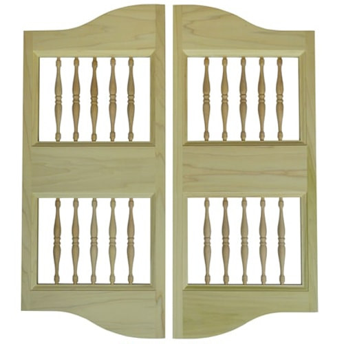 Cottage Western Spindle Bar Doors | Saloon Doors