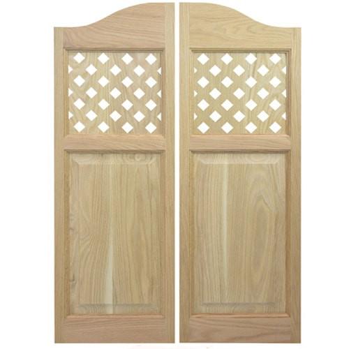 Lattice Style Cafe Doors   Saloon Doors