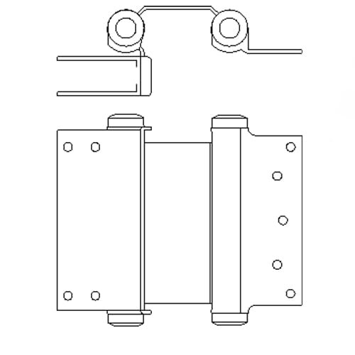 """7"""" Bommer 3024 Clamp Flange Double Acting Spring Hinge"""