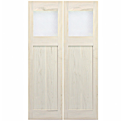 Swinging Modern Interior Saloon Doors with Glass Window