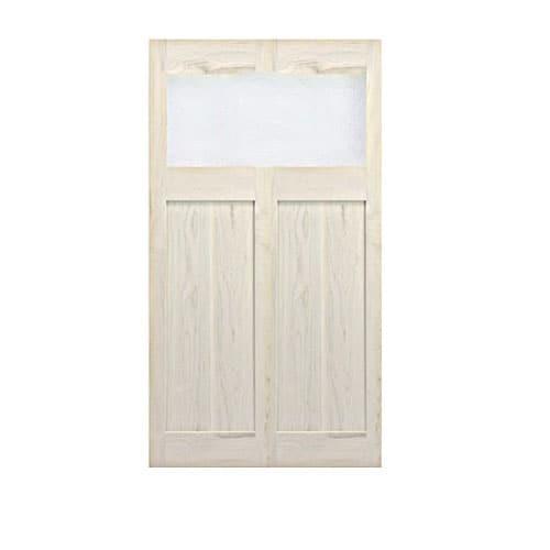 Single Modern Interior Door- Glass Panel Saloon Door | Cafe Door