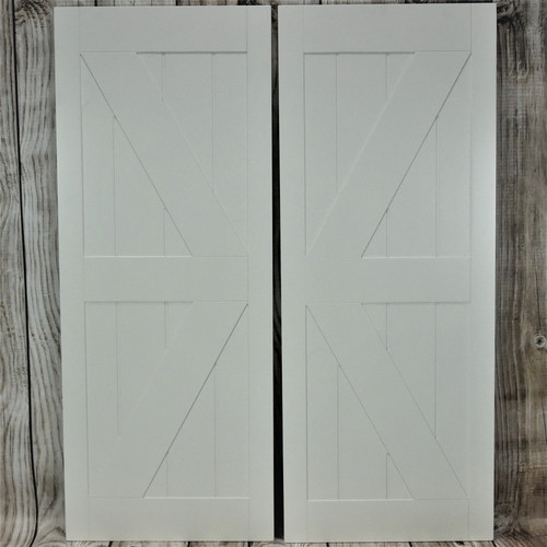"British Brace Barn Doors | Barn Style Doors 30"", 32"", 36"" Door Opening"