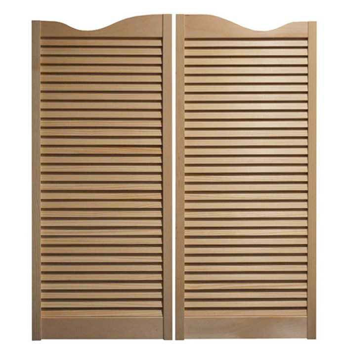 "Louvered Cafe Doors / Saloon Doors - Fits Any 32"" Door Opening / 2'8"" Door Opening"