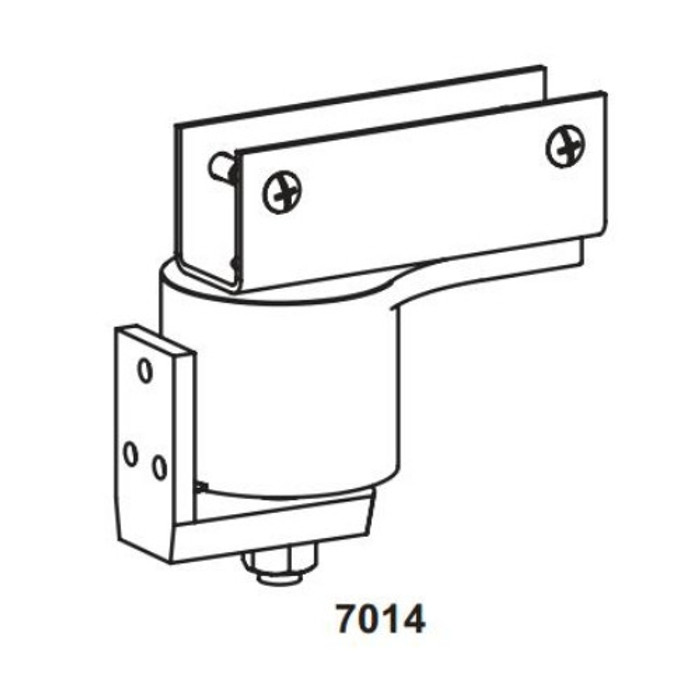 """Bommer Steel Surface Pivot Box Clamp Door Bracket Hinge   Swinging Cafe Doors   Saloon Doors - Up to 36"""" Doors Available in Bright Black, Satin Brass, Satin Chrome, Oil Rubbed Bronze"""