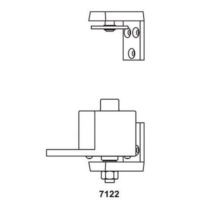 Bommer 7122 Mortise Adjustable Spring Pivot Hinge | Saloon Doors Hinge