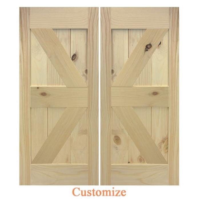 Barn Doors | Interior Barn Doors | Custom Double Barn Doors- British Brace