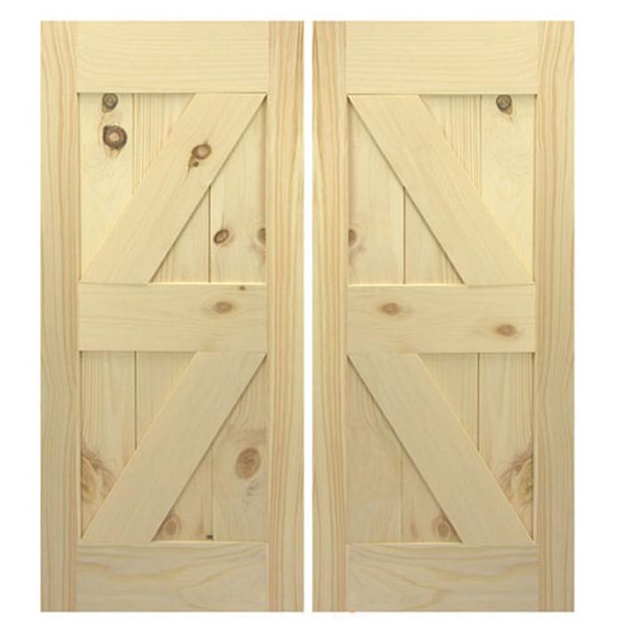 Double Z Interior Swinging Barn Doors