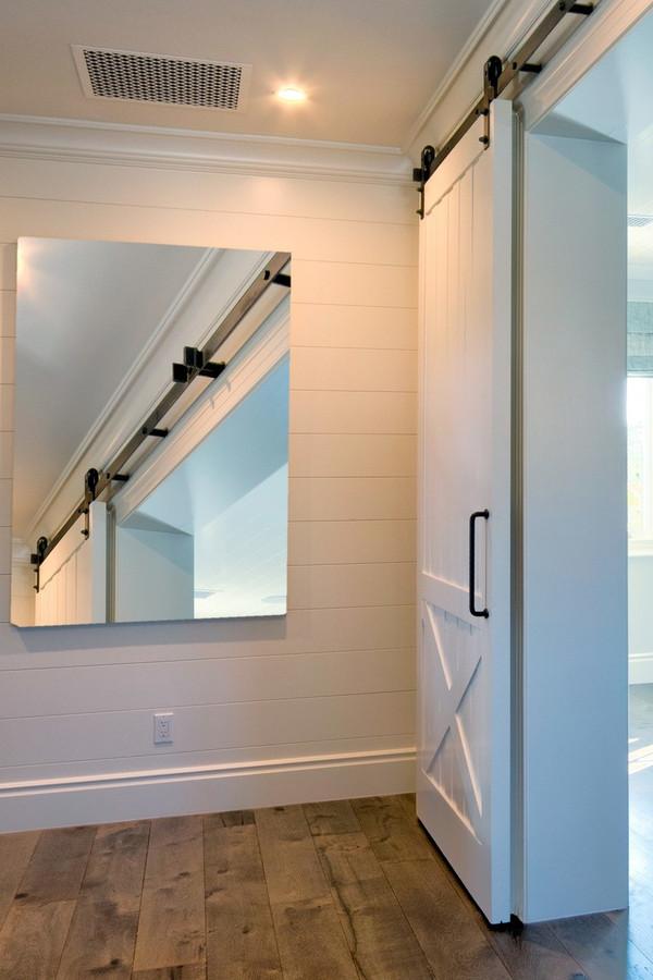 Custom Barn Doors   Interior Barn Door Style Framed Batten Board