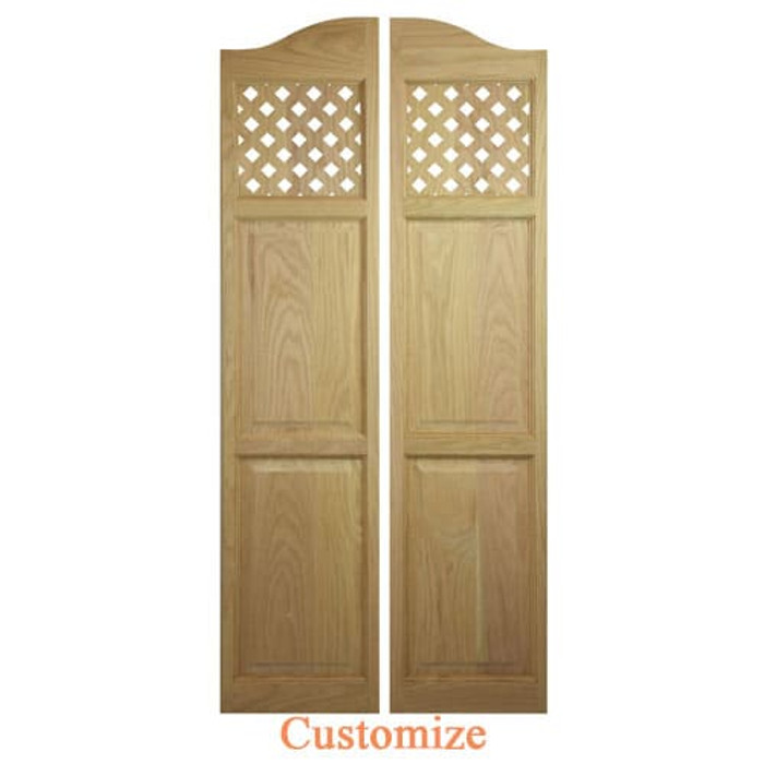 Custom Full Length Lattice Cafe Doors | Swinging Cafe Doors