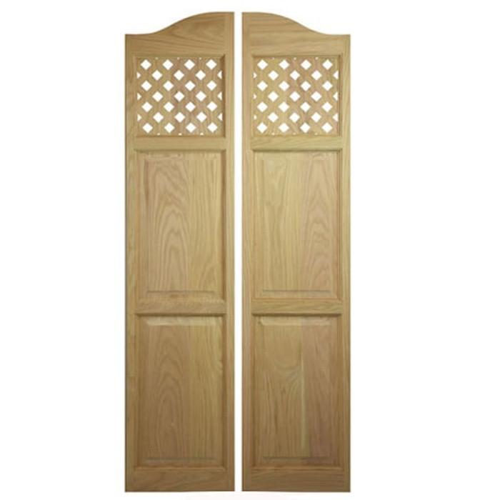 Custom Full Length Lattice Cafe Doors | Saloon Doors