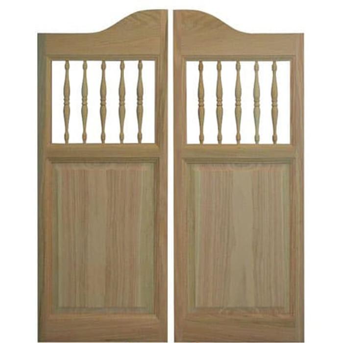 Western Spindle Saloon Doors | Swinging Cafe Doors