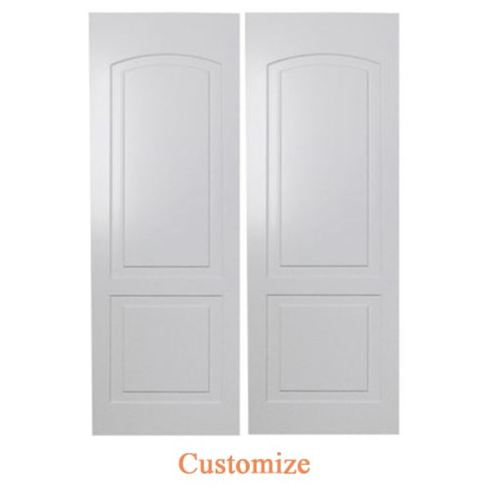 Custom Roman Arch Saloon Doors | Swinging Cafe Doors Set | Finished Painted