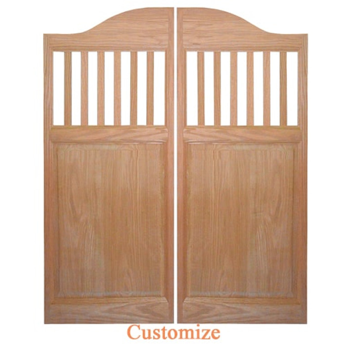 Mission Style Saloon Doors | Swinging Cafe Doors