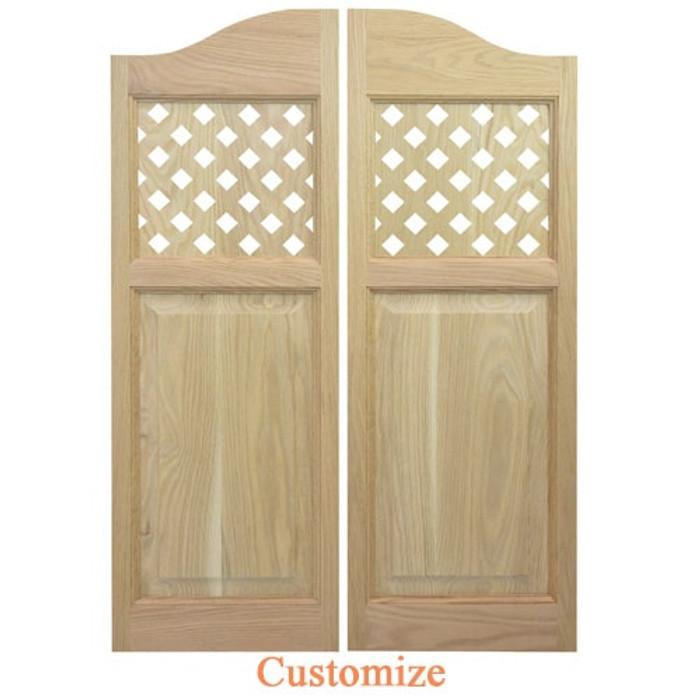 Lattice Style Cafe Doors   Swinging Cafe Doors