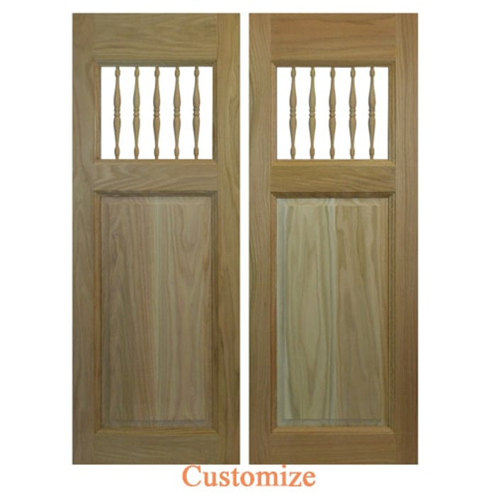Commercial Saloon Doors with Spindles | Swinging Cafe Doors