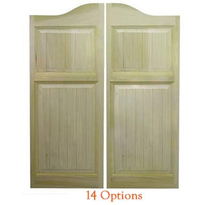 Craftsman Arch Top Saloon Doors | Swinging Cafe Doors