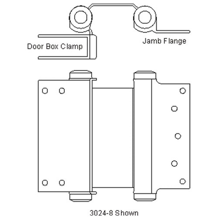 Bommer Clamp Flange Double Acting Spring Hinge