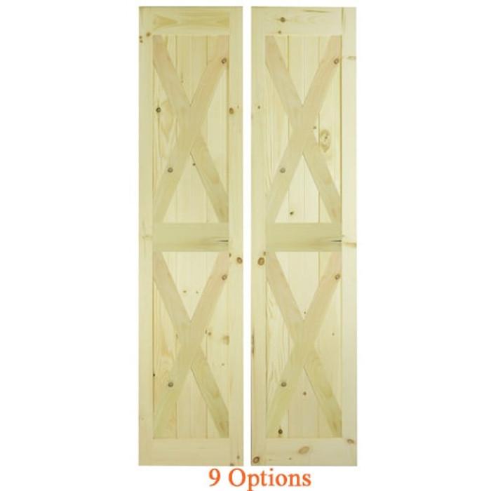 Interior Barn Doors | Double X- Barn Doors | Swinging Cafe Doors