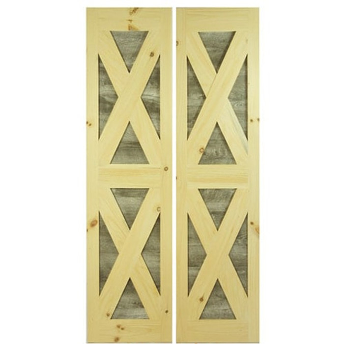 Interior Barn Door with Distressed Details Full Length Barn Doors